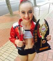 Last year I won the trophy for 'Most Improved Dancer' at my dance studio! I got two huge trophys.