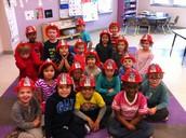 We got Fireman hats!