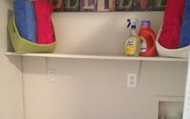 waher and dryer closet