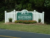 We are located in Matthews, NC