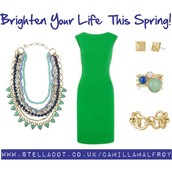 Pop of colour - green to celebrate the new spring season!