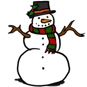 Chubby Little Snowman (finger play)