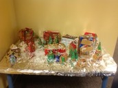 Our finished product! A Gingerbread Village!