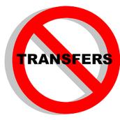 No Transfers...yet