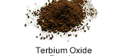 Terbium as a powder