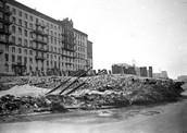 Баррикады на одной из улиц Москвы. 1941 г.