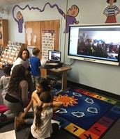 Skyping with Mrs. Werner's class in Wisconsin