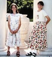 Elena (L) and Valerie (R) in grade school