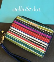 SOLD Crazy Stripe Tech Wallet $25