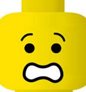 scared lego man