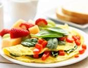 Tortilla de huevos- mil trescientos centavos (1300)