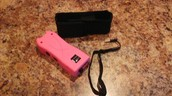 Aegis Stun Gun with Disable Pin (Rechargeable) - Black, Pink or Purple