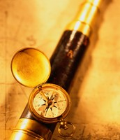 Old time telescopes and compasses