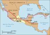 his route