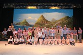 The cast of last year's musical, South Pacific.
