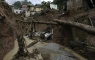 Landslide Created A Pit