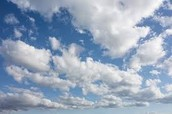What kinds of clouds do a warm front and a cold front create?