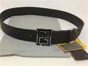 black fendi belt zucca belt negro