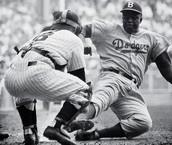 Jackie Robinson Stealing Home Against The Yankees In the World Series September 28th 1955