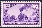 A postage stamp for the Transcontinental Rialroad