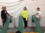Students racing their sleds