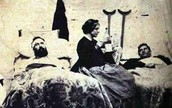 Clara helping wounded soliders in the Civil War