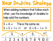 Near Doubles with Number Line