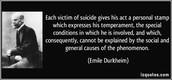 What Emile Durkheim contributed...