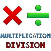 M or D is For Multiplication or Division