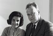 יצחק ולאה רבין בעת ששירת כשגריר ישראל בארצות הברית, 1968