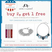 Buy Two Items, Get the Third for free!