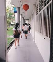 The corridor of a flat