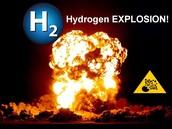Huge hydrogen explosion.