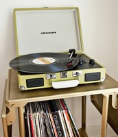 Antique Record Player and Albums
