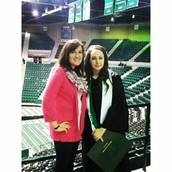 UNT Graduation with my sister