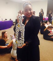 Breana Williams and her paddle from her little Aleesa!