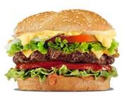 una hamburgesa