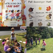 We went on a Fall scavenger hunt! We use our iPads to take pictures of the Fall items we found.