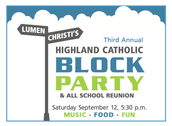 Block Party!  Sept. 12th