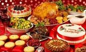 Christmas dinner in France