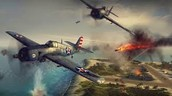 Naval planes fighting