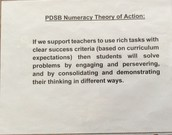 PDSB Numeracy Theory of Action