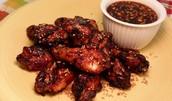 Spiced chicken drumettes