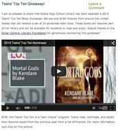 Ridley High School Library Blog