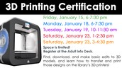 3D Printing Certification
