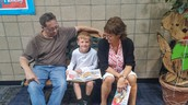Reading with grandparents