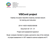 Report on project work assessment