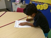 Students will start to practice writing words and make complete make sense sentences.
