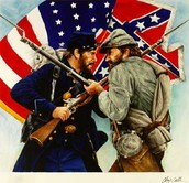 North[Against slavery] South [For Slavery]