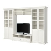 Mueble TV combinación, blanco